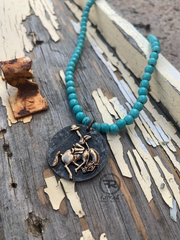 The Bozeman Bronc Necklace