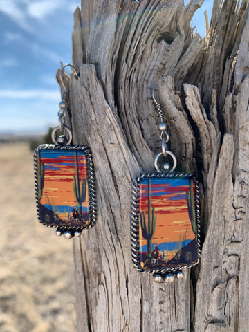 The Phoenix Sunset Earrings