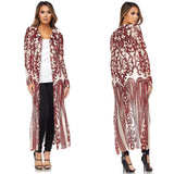 Red Sequin Duster