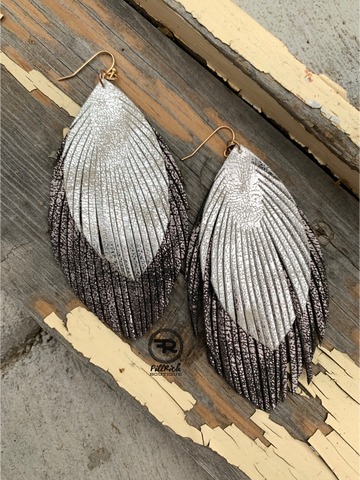Silver City Feathered Earrings