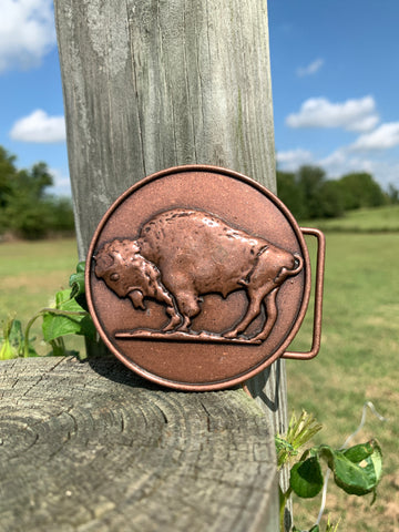 The Lone Buffalo Buckle
