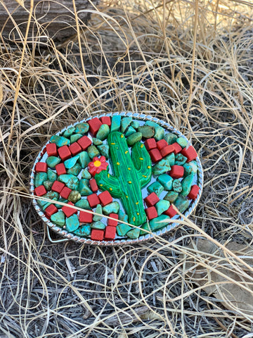 The Crazy Cactus Buckle