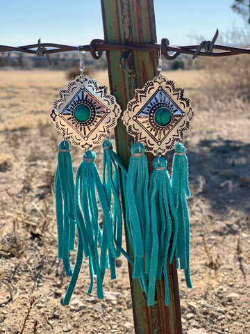 Cadillac Class Earrings >Turquoise<