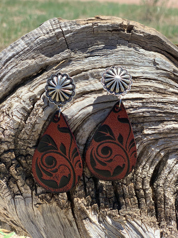 The Lane Leather Earrings