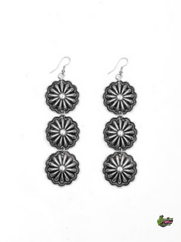 Tres Amigas Concho Earrings