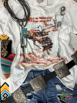 Wild West Distressed Tee