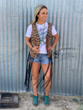 Fringe with Benefits {{leopard}} Duster