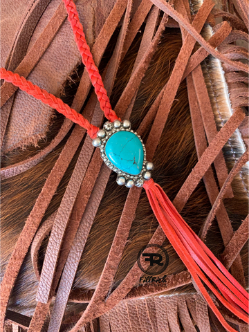 Red Bolo Necklace