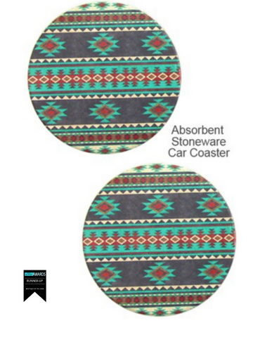 Aztec Nights Car Coasters