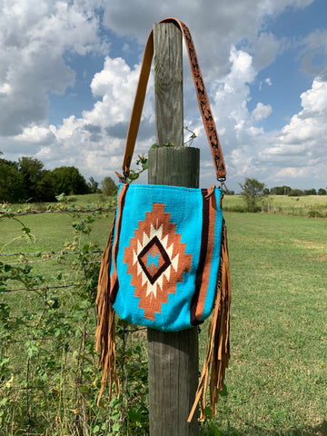 Back In The Saddle Blanket Fringe Purse