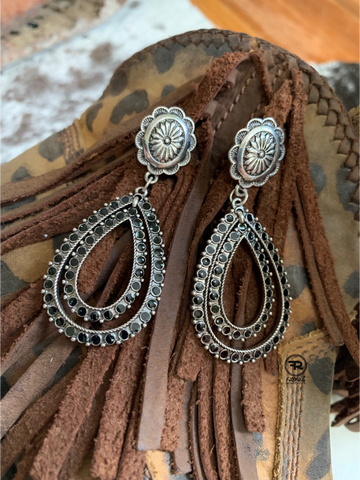 Wagon Mound Earrings {Black}