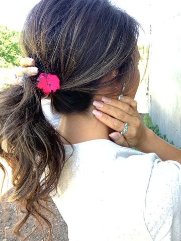 The Punchy Pink Ponytail Holder