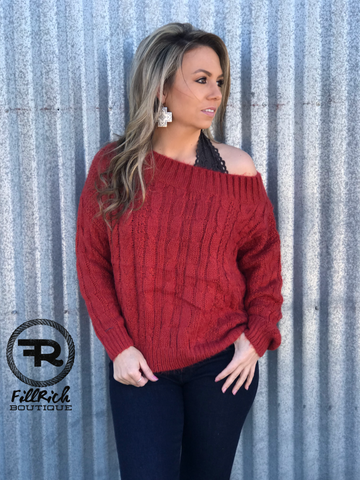 The Swayze Sweater {Tomato}