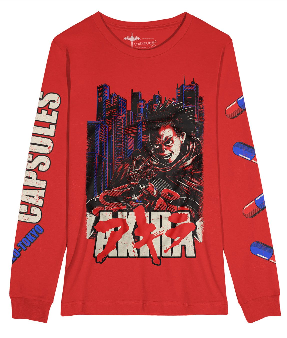 akira long sleeve shirt movie red