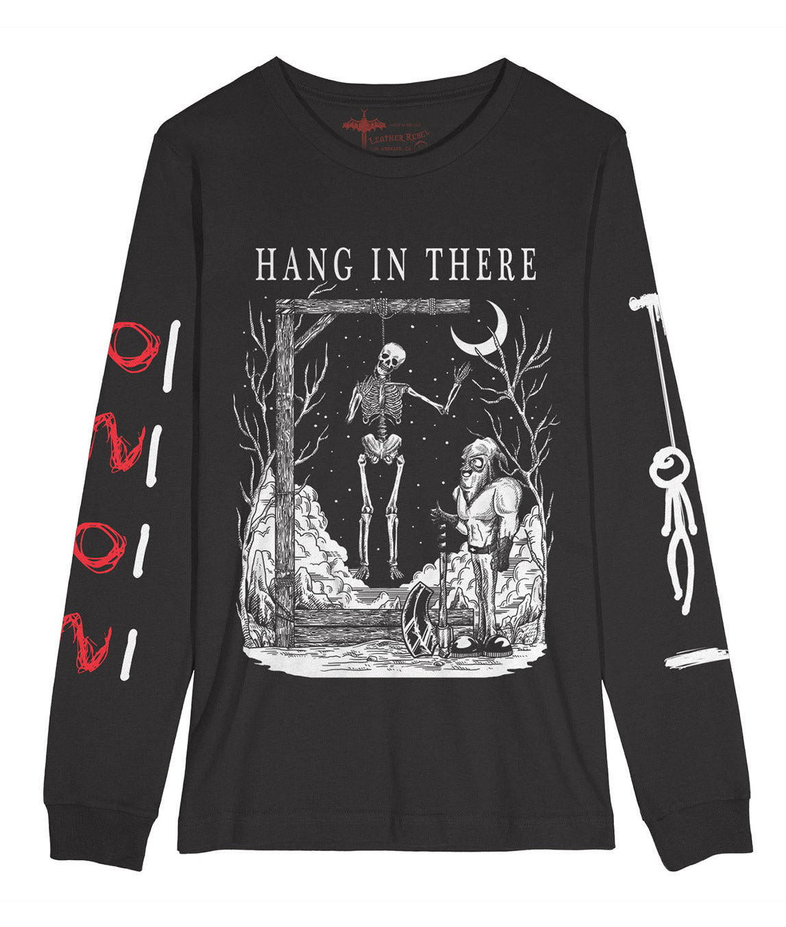 HANG IN THERE Long Sleeve Shirt (Dark Grey)
