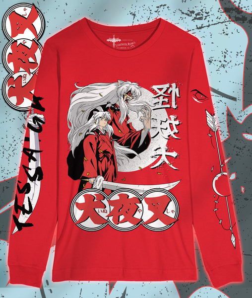 INUYASHA Red Long Sleeve Shirt Yokai