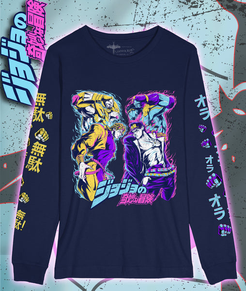 Jojo's Bizarre Adventure Long Sleeve - Stardust Crusaders (Navy Blue)
