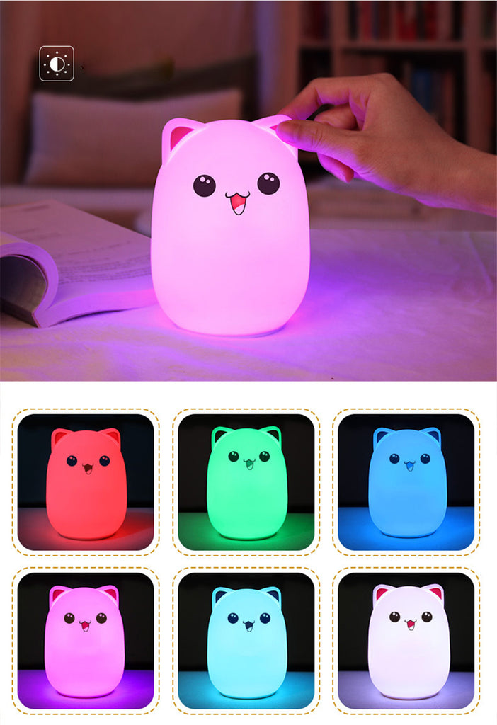 Cute Bear LED Night Lamp Silicone Toys For Kids, birthday, Christmas Gift