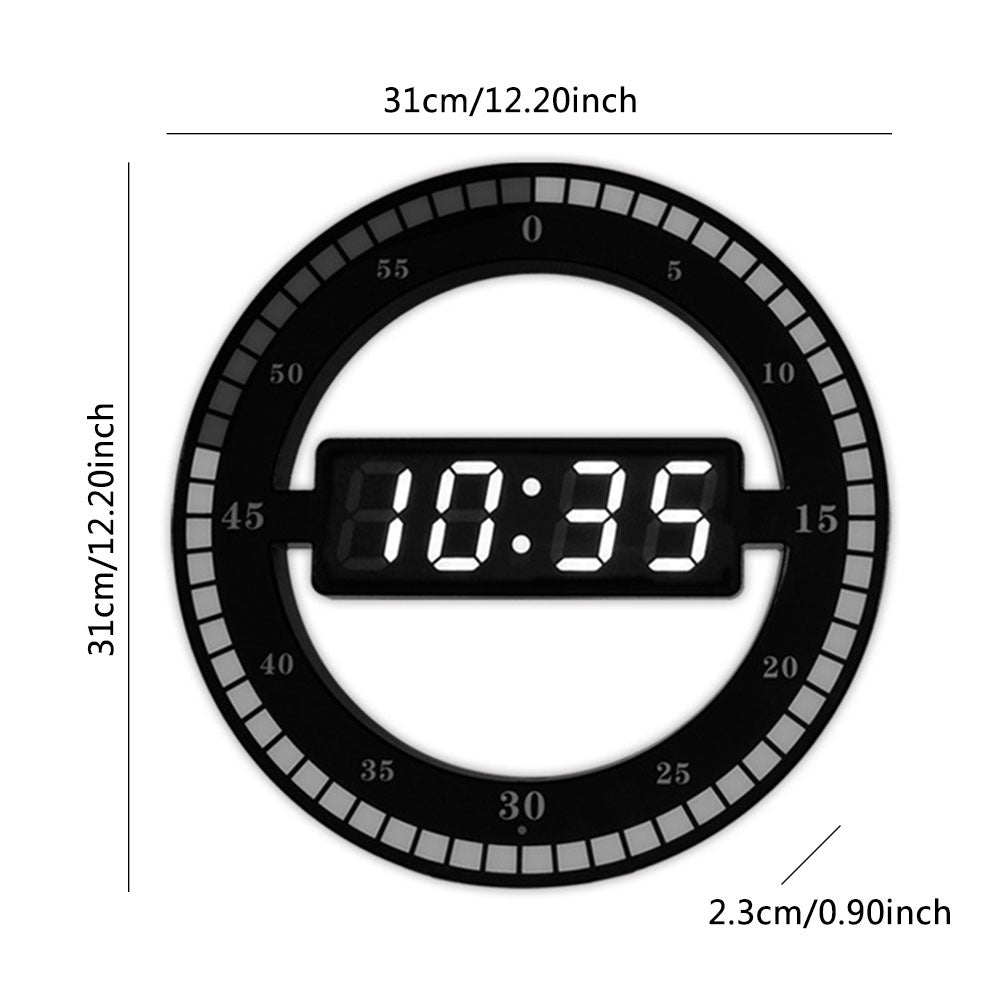 Creative Digital LED Display Hanging Automatically Adjust Brightness Table Clock