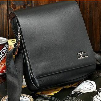 Men Leather Shoulder Bag Briefcase Style