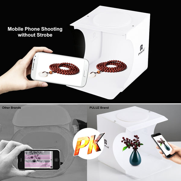 Mini Folding Studio Diffuse Soft Photography Box With 6 Colors EVA Background - Teme Store
