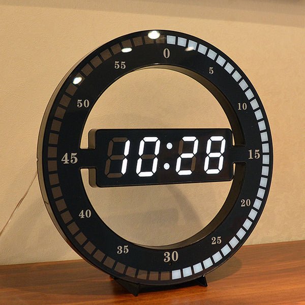 Creative Digital LED Display Hanging Automatically Adjust Brightness Table Clock - Teme Store