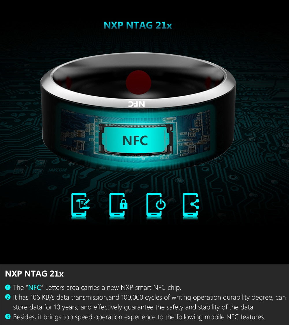 Newest Magic App Enabled Smart Ring For Android Windows NFC