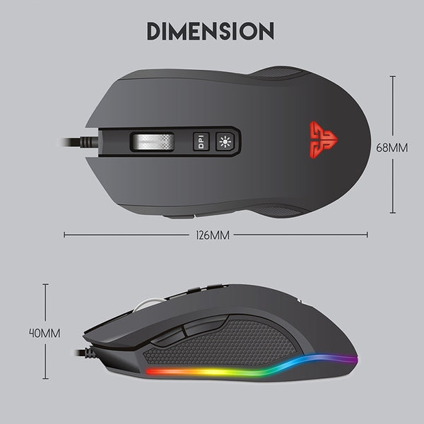 PC computer ergonomic electronic gaming mouse with backlight - Teme Store