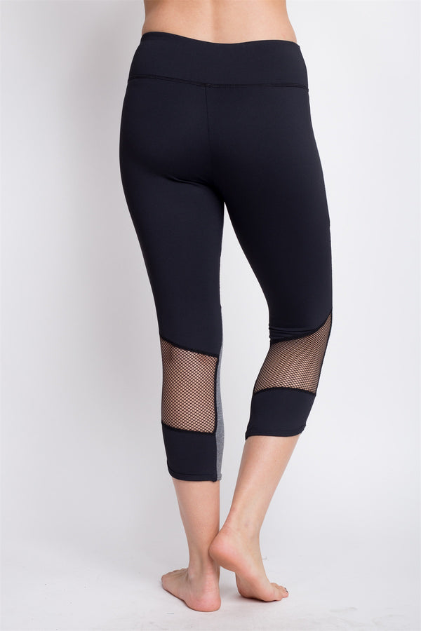 Reflect Capri with mesh insert for yoga - Teme Store