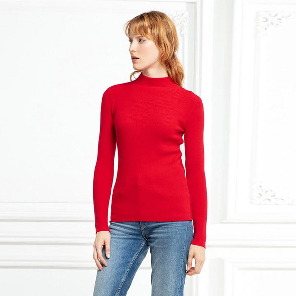 Turtleneck Slim-fit Pullover Tight Sweater - Teme Store