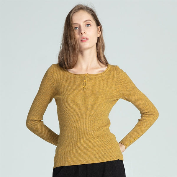 Solid Soft O-Neck Thin Pullover Sweater - Teme Store