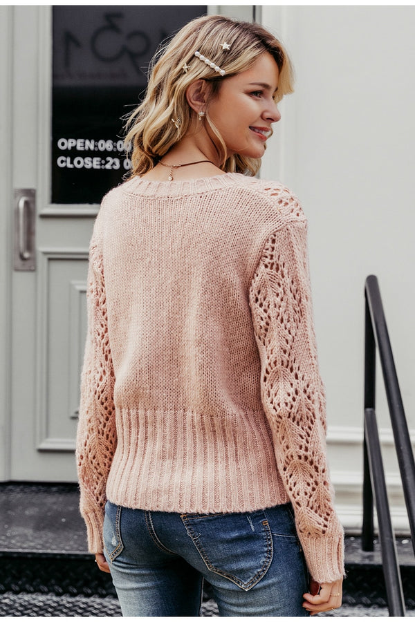 Crochet Knitted Sweater