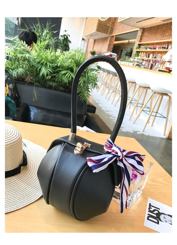 Luxury Buckle Tote Bag With Ribbon
