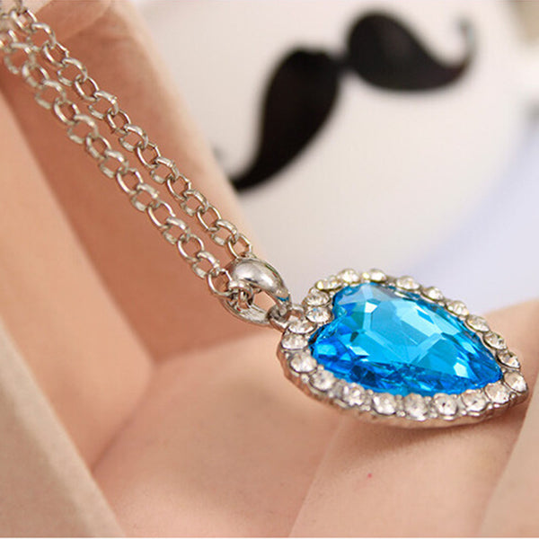 Classic Crystal Pendant Heart Necklace For Woman - Teme Store