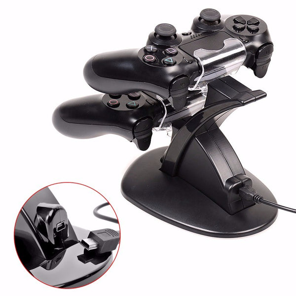Latest Dual LED USB Charger Dock Stand for Sony PS4 Controller - Teme Store
