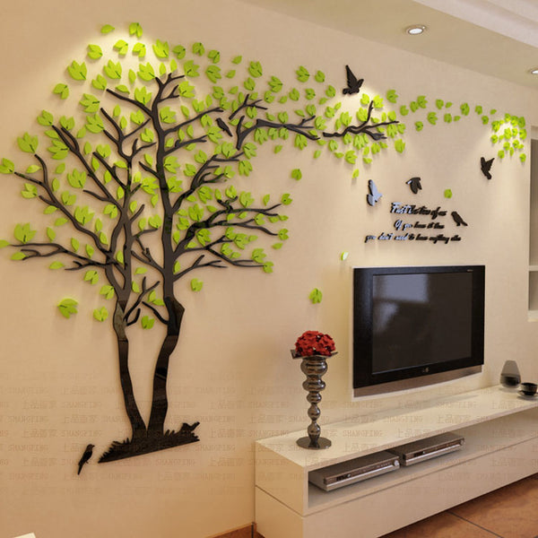 Lovers Tree Crystal Three-Dimensional Wall Stickers Living Room Decoration - Teme Store
