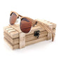 Handmade Original Wood  Zebra-stripe Design Luxury Sunglasses