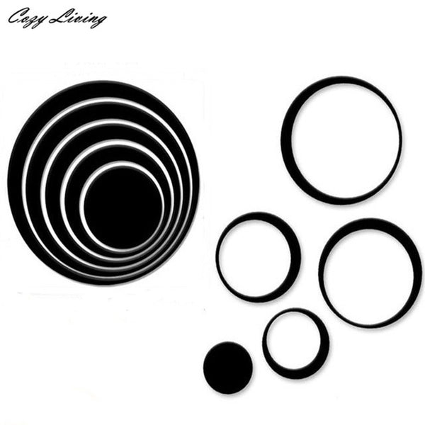 5 Pieces 3D DIY Wall Stickers Indoors Decoration Circles - Teme Store