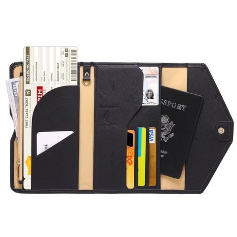 Anti magnetic Multi card holder documents organizer travel wallet