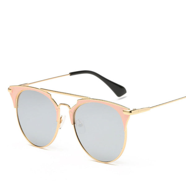 Luxury Vintage Round Mirror Sunglasses For Women - Teme Store