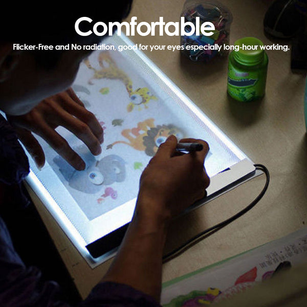 LED Light Drawing Tablet Black For Drawing Lover - Teme Store