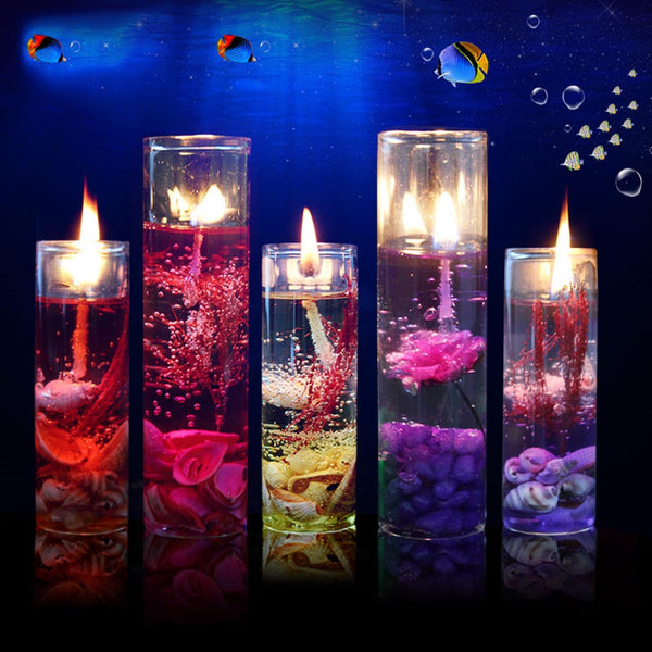 Romantic Aromatherapy Sea Jelly Glass Cup Gel Wax Candles for Wedding, Valentine's day - Teme Store