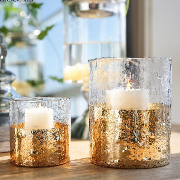 Stylish European Glass Candle Holders Home Decoration - Teme Store