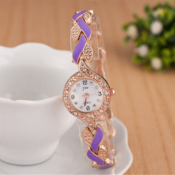 Crystal Dress Women Luxury  Bracelet Watches - Teme Store