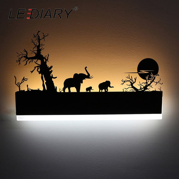 Creative Modern Romantic LED Wall Lamp & Painting Black Sconce Home Decoration - Teme Store