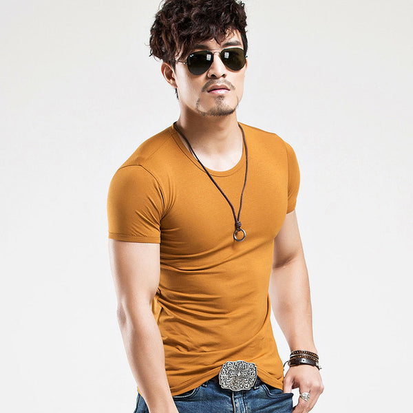 Casual V neck Men's T Shirt 2018 Fashion - Teme Store