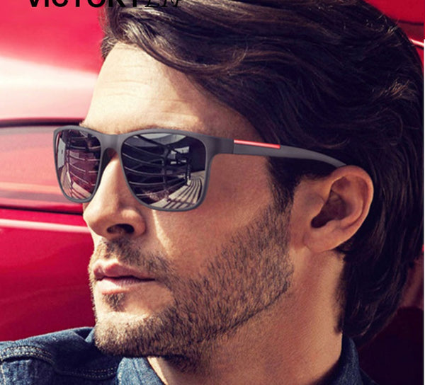 Retro Plastic Frame Driving Sunglasses For Men - Teme Store