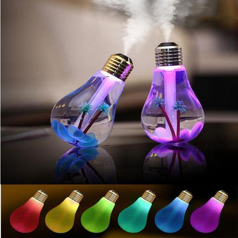 USB Night Light Air Ultrasonic Humidifier Oil Essential Aroma Diffuser - Teme Store