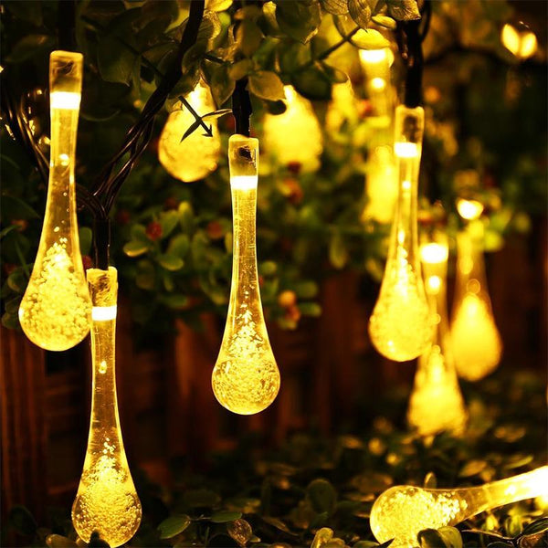 Waterproof 30 LED Water Drop String Fairy Light Outdoor Christmas Party Decoration - Teme Store