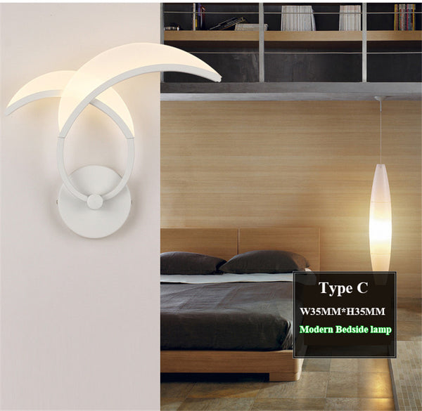 Acrylic LED Wall Light Flower Shape Indoor Decoration - Teme Store
